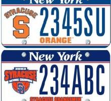 Custom Syracuse License Plates